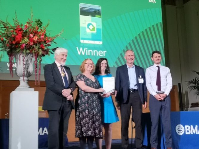 distrACT app wins BMA award