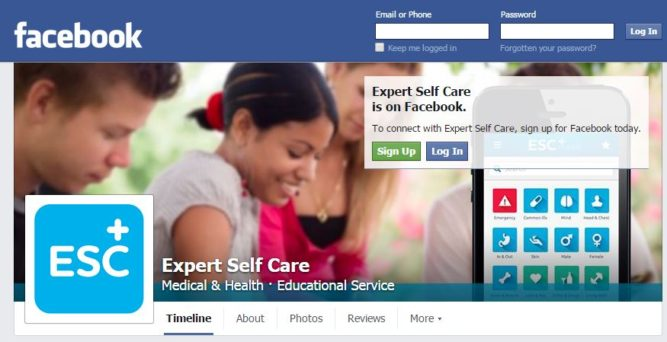 Expert Self Care facebook page